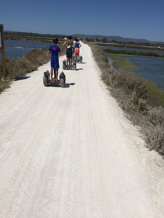 Algarve By Segway : Across the Ria Formosa in convoy.