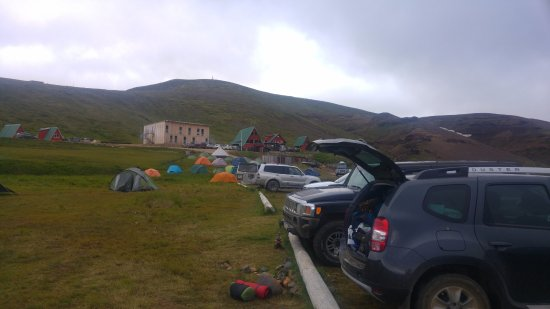 Seltjarnarnes, Iceland: Camping area with facilities