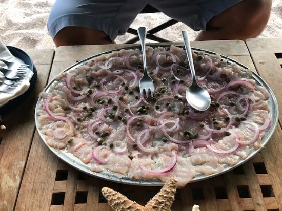 Baja Camp: Carpaccio made from freshly caught fish - absolutely delicious!