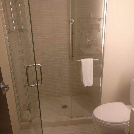 Shower enclosure - Picture of Hilton Garden Inn Times Square, New ...