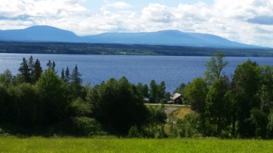Orrviken, Sweden: Stunning view from cabin