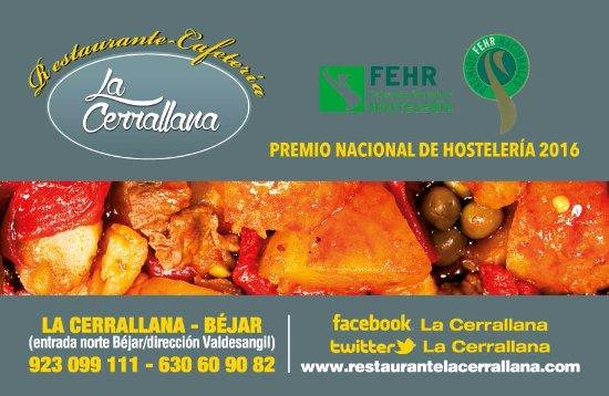 Béjar, España: La Cerrallana premio nacional de hostelería