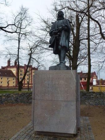 Monument of Jakub Krcin: Памятник создателю прудов Тржебони - Якобу Крчину