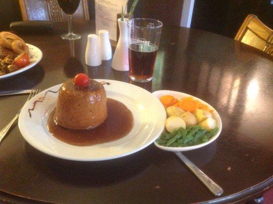 New Inn: Beef suet pudding