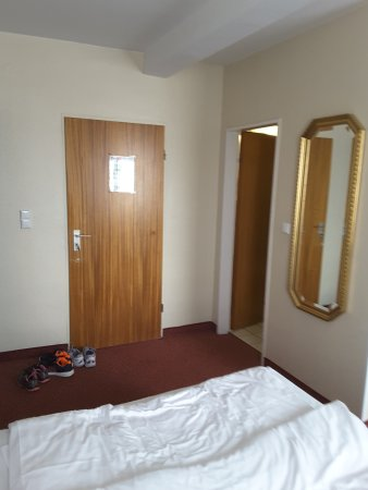 Hotel Central: room entrance and bathroom door to the right