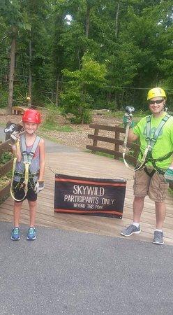 "Greensboro, North Carolina: Dad and the birthday boy going ""SkyWild""!"