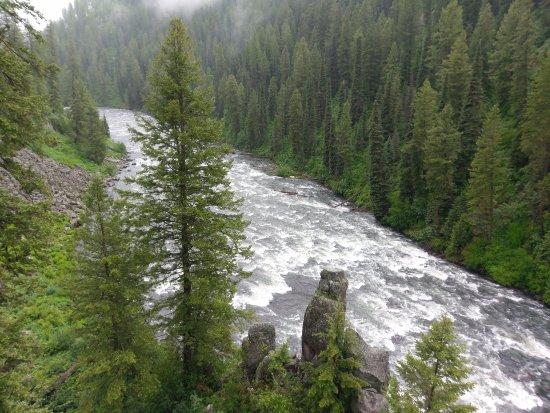 Ashton, ID: Looking downriver below Upper Mesa Falls