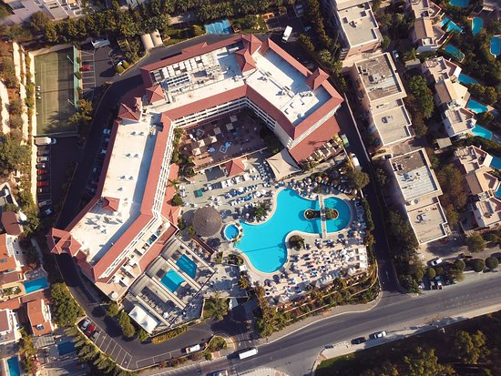 Atlantica Bay Hotel: Few aerial shots I took when I stayed here on 9th July 2017. Lovely hotel!