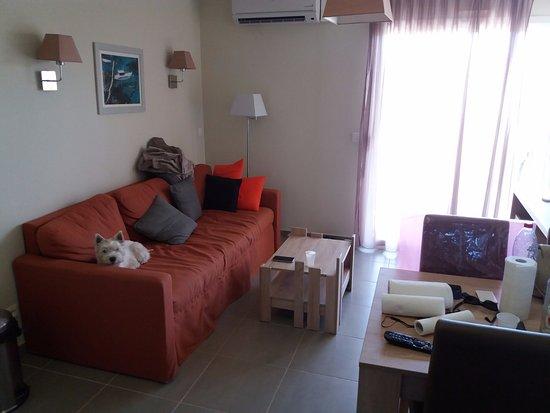 Salleles-d'Aude, Франция: canapé avec 2 lits simples
