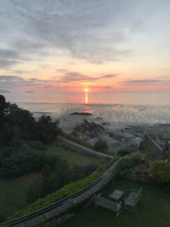 Chateau Richeux : The view from our room (Galanga) at sunrise