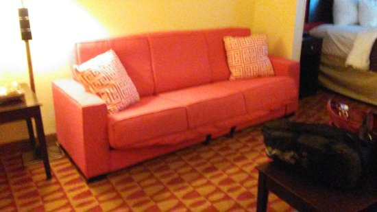 Comfort Inn & Suites: sofa not set set in place properly