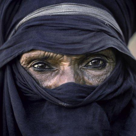 Le Cres, Frankrike: Le chef touareg Abakaoua, légendre vivante du Sahara (photo Maximilien Bruggmann)