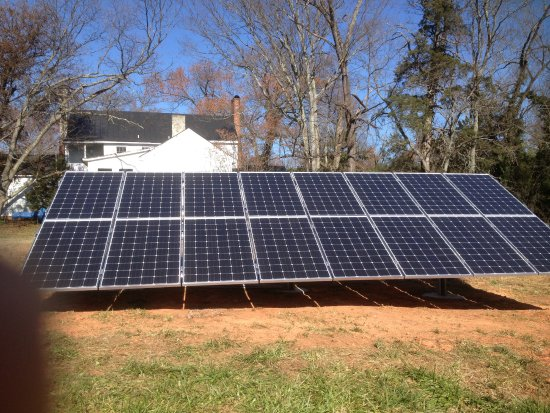South Boston, VA: Solar panels, which provide power to the B&B