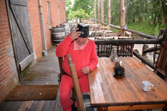 Haslev, Danimarka: En cowboy der har husket det vigtigste.