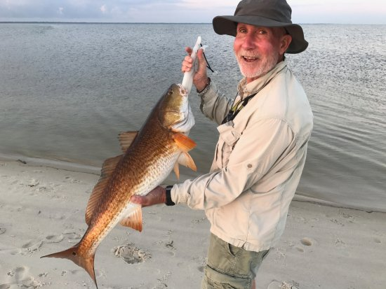 "Navarre, FL: Dennis landed this 37"" Bull Red on his first kayak trip."