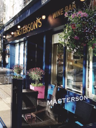 Masterson's Steak House & Wine Bar: Facade of restaurant with terrace seating