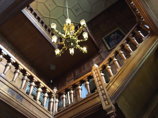 Padiham, UK: Staircase,Gawthorpe Hall.