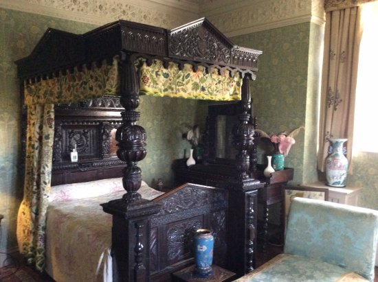 Padiham, UK: Bedroom,Gawthorpe Hall.