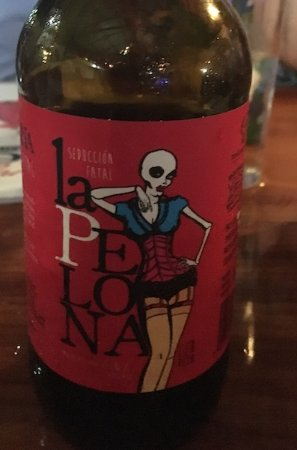 Delicious artisanal IPA available at Langostina Feliz.Obvious candidate for coolest label & name