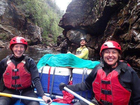Tasmanien, Australien: Happy rafters!