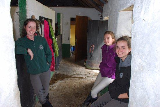 Camp, Ireland: Girls chilling before the Trek