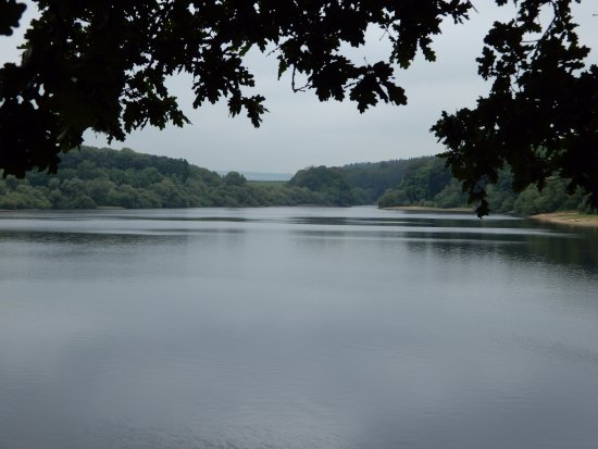 Blubberhouses, UK: View of Reservoir.