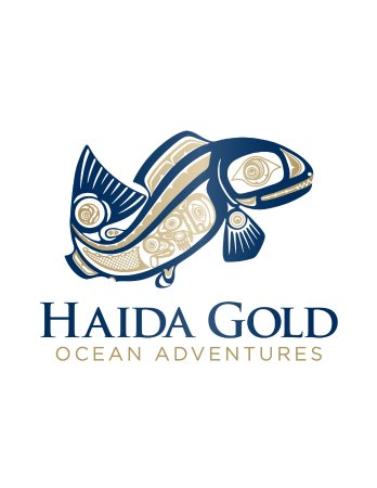 Nanoose Bay, Canadá: Haida Gold Ocean Adventures logo, with original artwork by Haida First Nations artist.