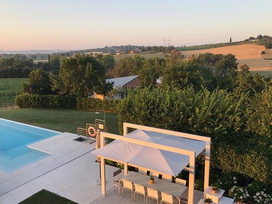 B&B Villa Luogoceleste: Fantastic morning view from Balcony in the Vita suite.