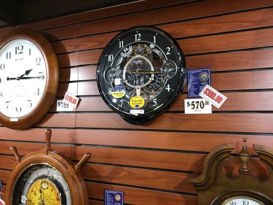 Solvang, CA: see through workings clock