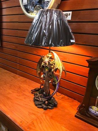 Solvang, CA: Cool dragon lamp