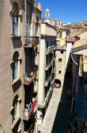 Pensio Viladomat: Balcony view