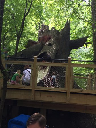 Baltimore, MD: A log slide for the kids along the way