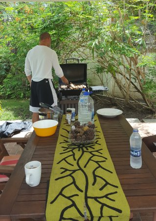 Buccaneer Beach Club: We used the grill to cook up some BBQ