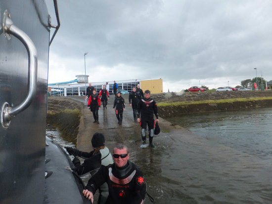 Burntisland, UK: Beginning of another amazing dive day with Divebunker!!!