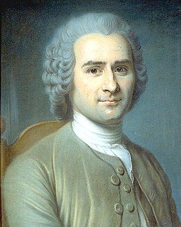 Motiers, Suisse : Portrait de Rousseau au pastel, attribué à La Tour.