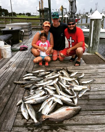 Legends of the Lower Marsh Fishing Charters and Guide Service LLC.: The Nolen family came along with us on a charter for a second year! Just like last year, they su