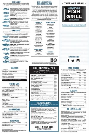 California fish grill gardena menu prices restaurant for Fish grill menu
