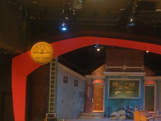 Thousand Islands Playhouse: Waiting for the start....set for Million Dollar Quartet
