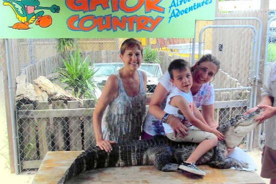 Gator Country Alligator Park: Marcus @ 4 years old with Bubba