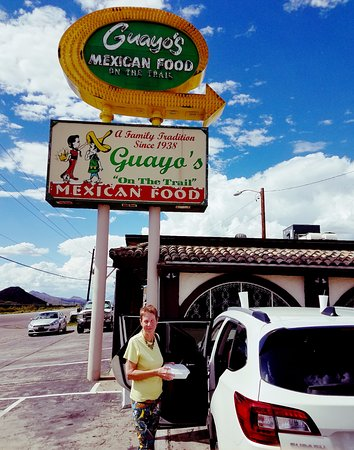 Guayo's on the Trail: A welcome sign for when you're hungry after a long drive
