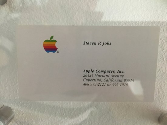 Steve Jobs Business Card Picture Of Apple Museum Prague Prague