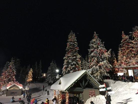 North Vancouver, Canada: night lights