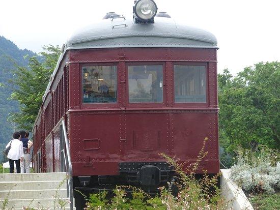 Matsukawa-mura, Japan: トットの広場にある、電車。子供が喜ぶ