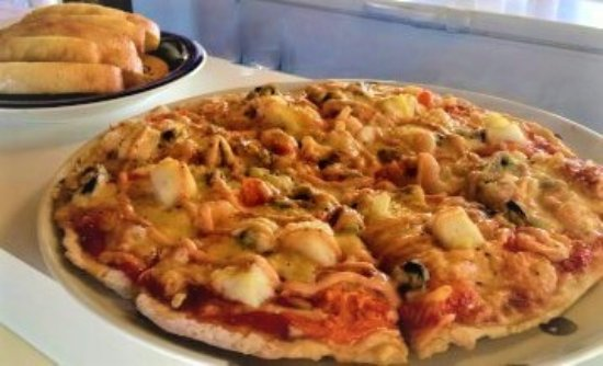 Springfield, New Zealand: Seafood Pizza