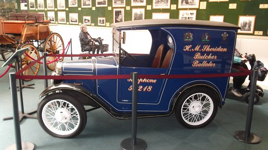 Balmoral Castle: Classic Austin van on display in the stables.