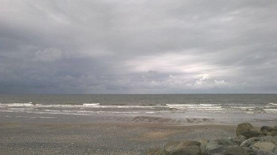 lots of sky at Tywyn beach