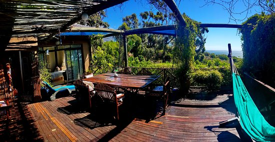 Camps Bay Glen: Studio A - main house terrace with sea view