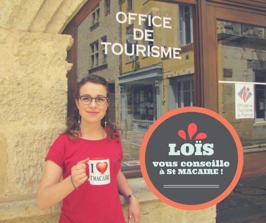 Saint-Macaire, Francia: Lois, votre conseillère en séjours, vous accueille à l'office de tourisme de St Macaire