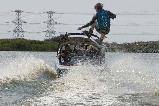 Lydd, UK: Wakeboarding
