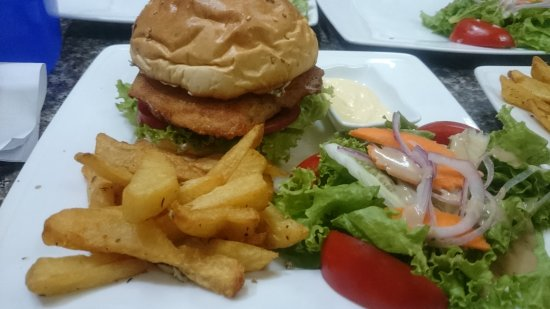 Ete Resto Cafe : Fish burger ( M Size )